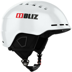 Bliz Head Cover Helm, white-black